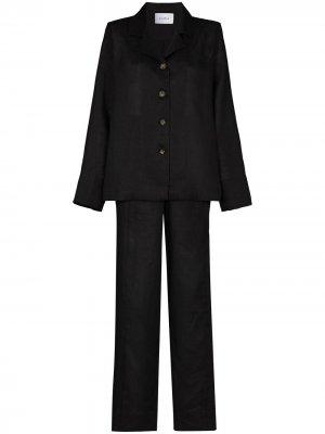 Пижама с брюками Sleeper. Цвет: черный