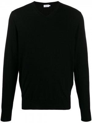 Джемпер с V-образным вырезом Filippa K. Цвет: черный