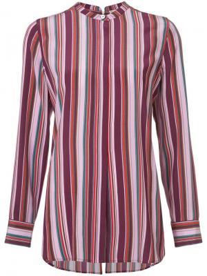 Полосатая рубашка в стиле пижамы Figue. Цвет: красный