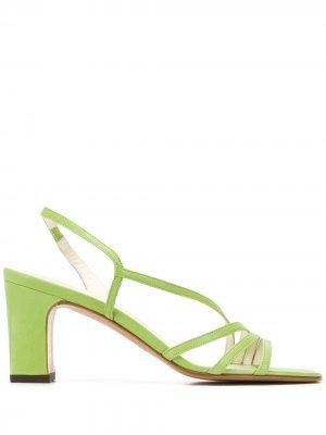 Босоножки Bloem 80 с ремешками Michel Vivien. Цвет: зеленый