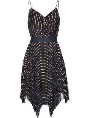 Плиссированное платье асимметричного кроя Pinko. Цвет: черный