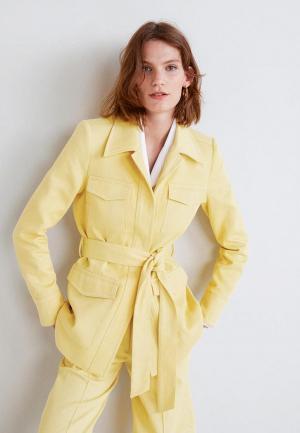 Жакет Mango. Цвет: желтый