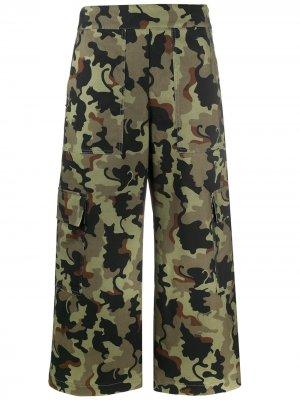 Укороченные брюки карго Vivetta. Цвет: зеленый