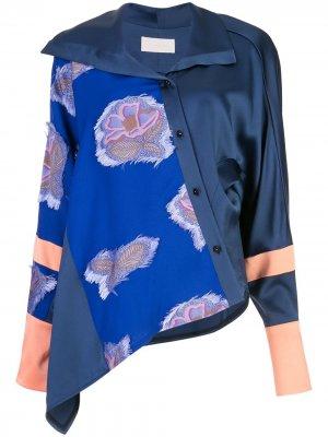 Панельная рубашка с цветочным узором Peter Pilotto. Цвет: черный