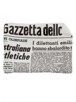 Пепельница La Gazzetta dello Sport Fornasetti. Цвет: серый