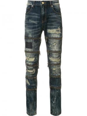 Gods Masterful Children рваные джинсы кроя скинни God's. Цвет: синий