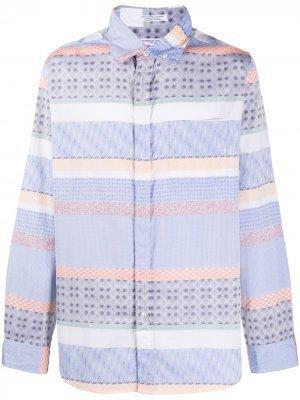 Рубашка на пуговицах с вышивкой Engineered Garments. Цвет: синий