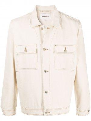Джинсовая куртка Pax Nanushka. Цвет: нейтральные цвета