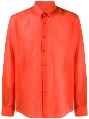 Полупрозрачная рубашка Vilebrequin. Цвет: оранжевый