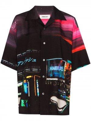 Рубашка Dekotora с графичным принтом AMBUSH. Цвет: черный