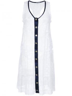 Lace beach dress Amir Slama. Цвет: белый