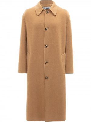 Пальто миди на пуговицах JW Anderson. Цвет: нейтральные цвета