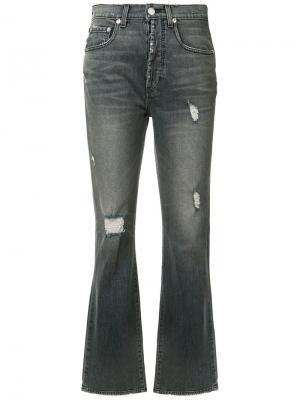 Укороченные джинсы буткат Adaptation. Цвет: черный