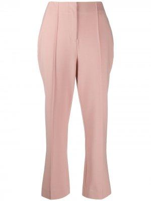 Укороченные брюки с завышенной талией Jonathan Simkhai. Цвет: розовый
