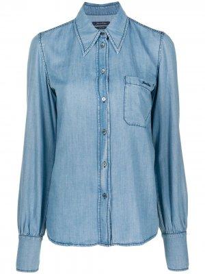 Джинсовая рубашка с вышитым логотипом Jacob Cohen. Цвет: синий