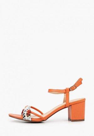Босоножки Stephan. Цвет: оранжевый