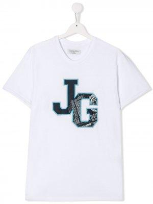 Футболка с логотипом John Galliano Kids. Цвет: g100