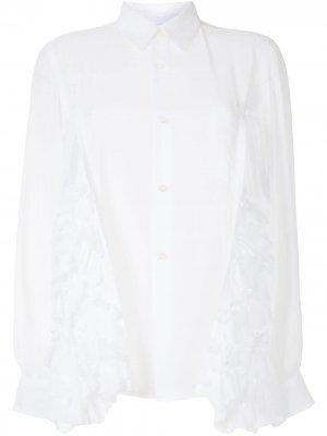 Рубашка с оборками и длинными рукавами Comme Des Garçons. Цвет: белый