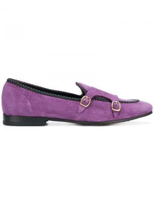 Ботинки-монки с плетеной отделкой Leqarant. Цвет: розовый