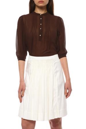 Сорочка RASCHINI. Цвет: коричневый