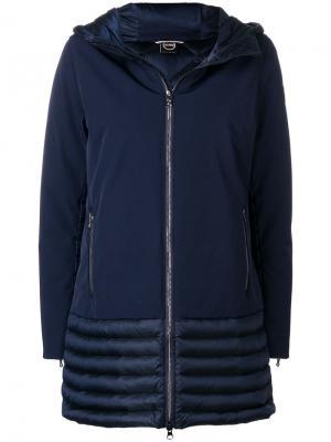 Пальто со стеганой панелью Colmar. Цвет: синий