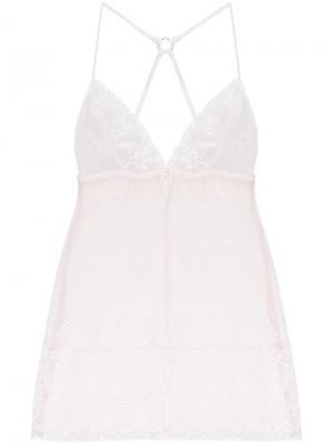 Прозрачная ночная сорочка с ажурными узорами Fleur Of England. Цвет: нейтральные цвета