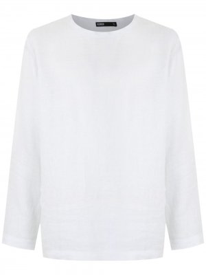 Linen long sleeves T-shirt Handred. Цвет: белый