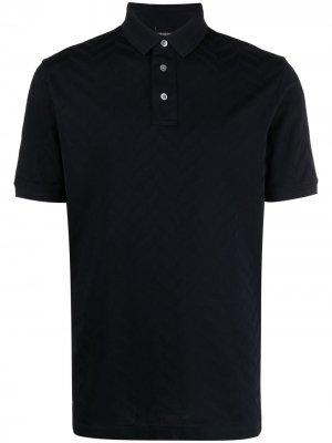 Рубашка поло с короткими рукавами Emporio Armani. Цвет: синий