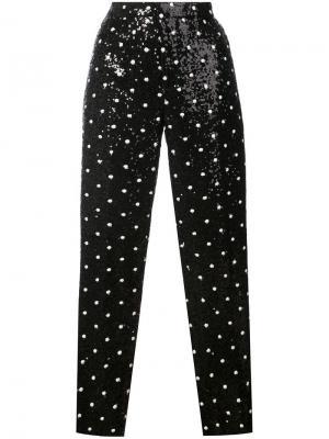Прямые брюки с пайетками Giambattista Valli. Цвет: черный