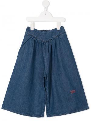 Расклешенные шорты Bobo Choses. Цвет: синий
