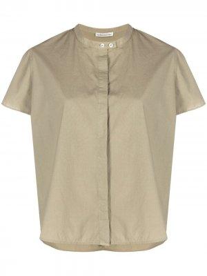 Рубашка с воротником-стойкой Stefano Mortari. Цвет: зеленый
