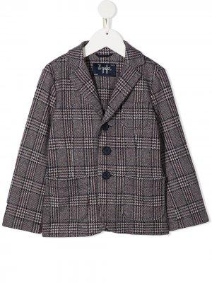 Клетчатый однобортный пиджак Il Gufo. Цвет: красный