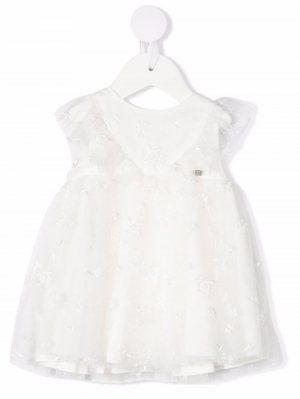 Платье миди с эффектом металлик Tartine Et Chocolat. Цвет: белый
