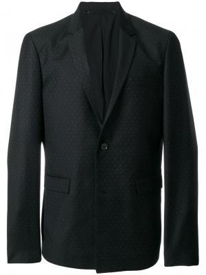 Пиджак с мелким узором в горох Kris Van Assche. Цвет: черный