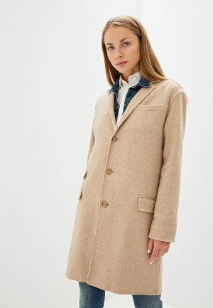 Пальто Polo Ralph Lauren. Цвет: бежевый