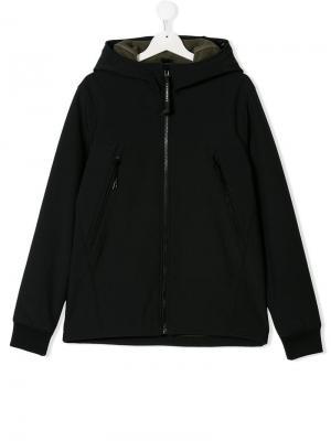 Куртка с капюшоном Cp Company Kids. Цвет: синий
