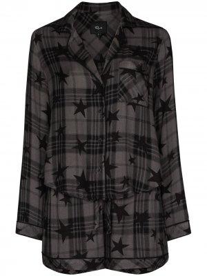 Пижама с принтом Rails. Цвет: серый