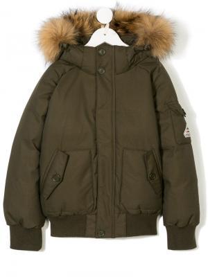 Padded hooded jacket Pyrenex Kids. Цвет: зеленый