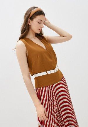 Блуза Silvian Heach. Цвет: коричневый