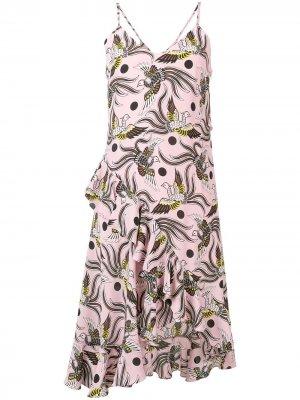 Платье с принтом феникса Kenzo. Цвет: 33 pastel розовый