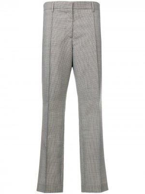 Укороченные расклешенные брюки Rochas. Цвет: серый