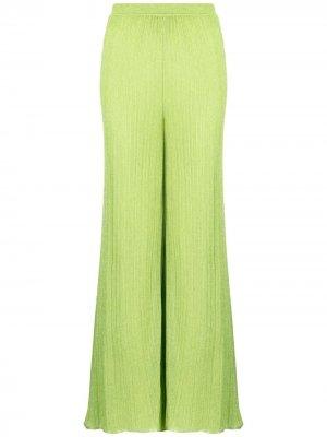 Расклешенные брюки тонкой вязки M Missoni. Цвет: зеленый
