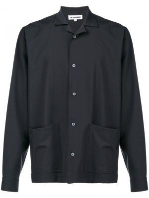 Рубашка с воротником шалька Jil Sander. Цвет: черный