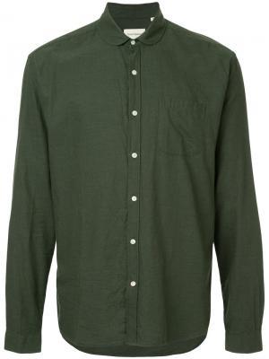 Рубашка с итонским воротником Oliver Spencer. Цвет: зелёный