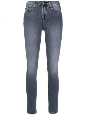 High waist Pyper jeans 7 For All Mankind. Цвет: серый