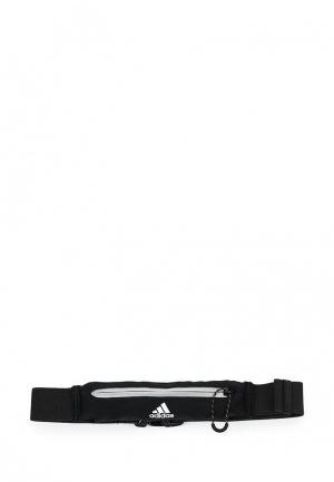 Пояс для бега adidas Performance. Цвет: черный