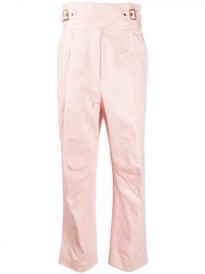 Прямые брюки с завышенной талией Zimmermann. Цвет: розовый