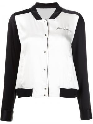 Пижамный топ в стиле куртки-бомбер Fleur Du Mal. Цвет: черный