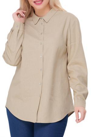 Рубашка Limonti. Цвет: бежевый