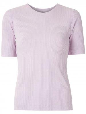 Блузка в рубчик с короткими рукавами Eva. Цвет: фиолетовый